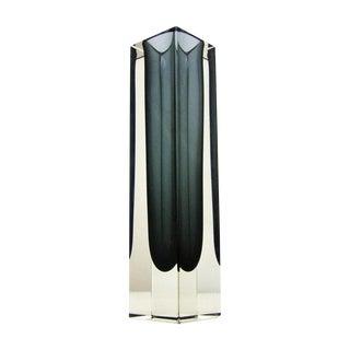 Italian Mandruzzato Murano Mid-Century Modern Gray Glass Vase MCM