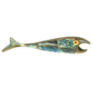 Abalone & Brass Fish Bottle Opener