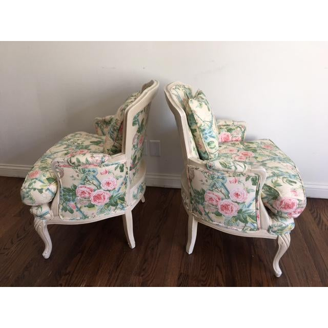 Shabby Chic Floral Bergere Chairs - A Pair - Image 8 of 11