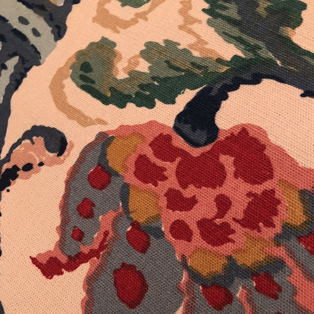 """Lee Jofa's """"New Sevilla"""" in Multi Linen Fabric - Almost 3 Yds - Image 6 of 7"""