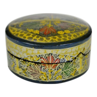 Vintage Hand Painted Lacquerware Box