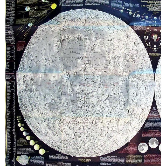 """1969 National Geographic """"The Earth's Moon"""" Map - Image 5 of 8"""