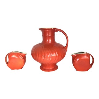 Mid-Century Modern Pitcher & Creamers - Set of 3
