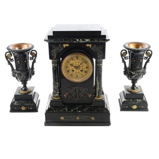 19th C. French Mantle Clock Set