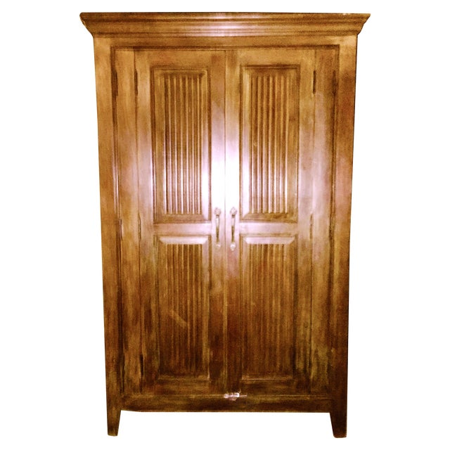 Solid Teak Armoire - Image 1 of 4
