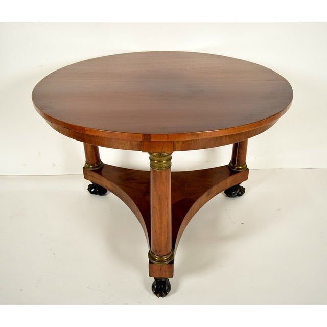 19th century french empire center table chairish for Table th width