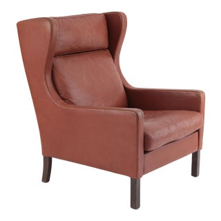 Danish Wingback in Patinated Leather