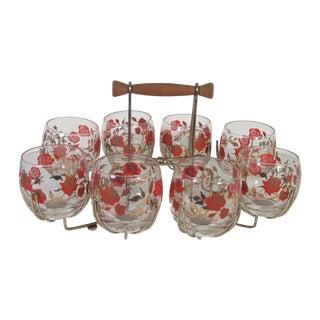 MCM Rolli Polli Rose Glasses - Set of 8