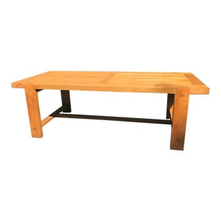 Solid Oak Stickley Style Dining Table