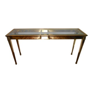 Louis XVI Brass Console Table