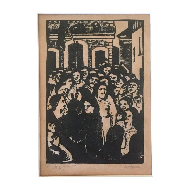 Fay Ostrower Woodblock Print - Image 1 of 6
