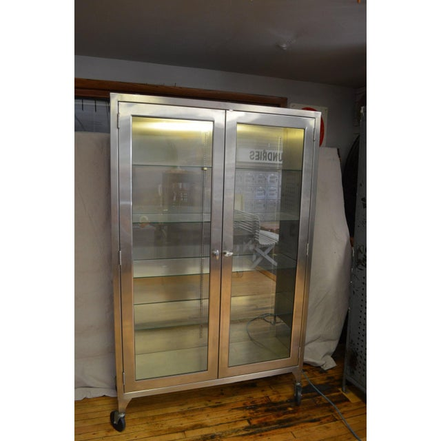 Lighted Two-Door Dental Apothecary Lab Cabinet - Image 9 of 10