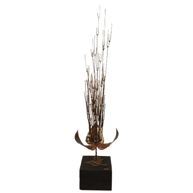 Image of Vintage 1966 C. Jere Metal Sculpture