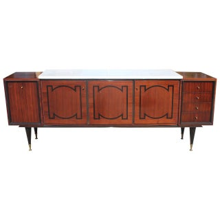 French Art Deco Palisander Buffet With Ebony Inlay