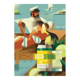 Danish Modern Alcohol Poster, Kossu Sitruuna