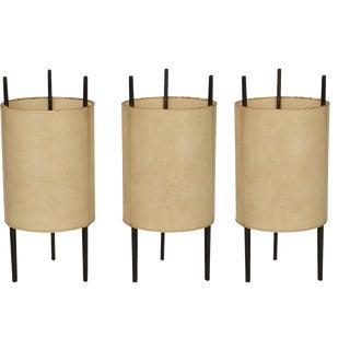 """Isamu Noguchi for Knoll """"Cylinder"""" Table Lights - Set of 3"""