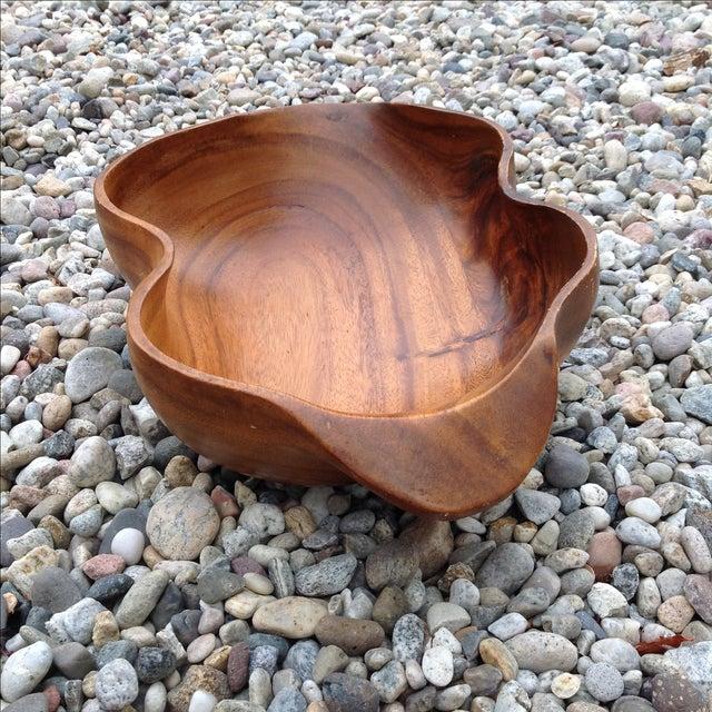 Vintage Carved Wood Monkey Pod Bowl - Image 6 of 11
