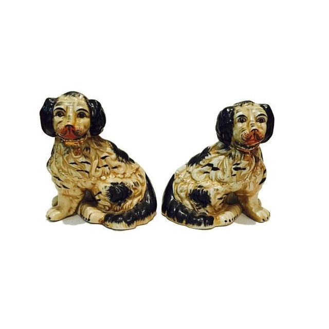 1920s Staffordshire Dogs King Charles Spaniels - A Pair - Image 7 of 7
