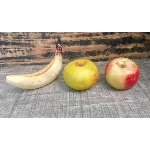 Vintage Italian Alabaster Fruit - Set of 3 - Image 4 of 5