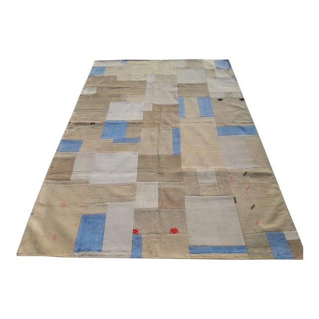 "Turkish Patchwork Overdyed Rug -- 5'1"" x 7'8"" - Image 1 of 6"