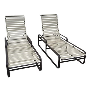 Pair of 1970s Tropitone Brasilia Chaise Lounges