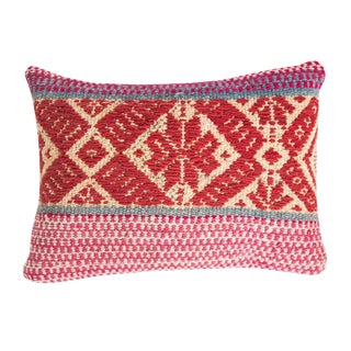 Peruvian Red Frazada Pillow Cover