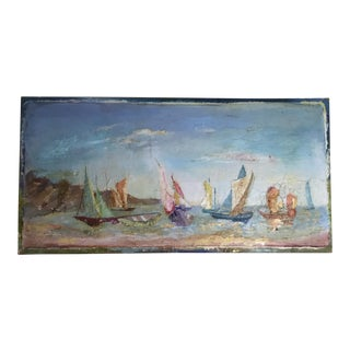 Sailing Boats On the Coast Oil Painting