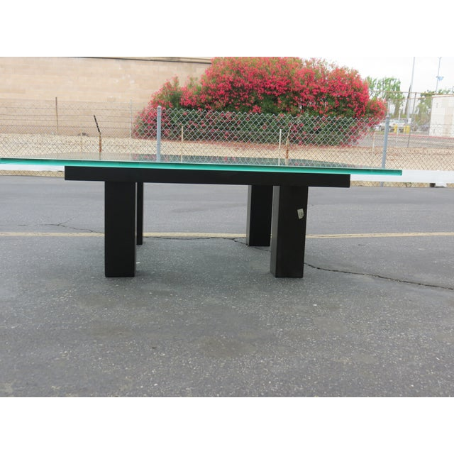 New Italian Square Glass Top Coffee Table - Image 9 of 9