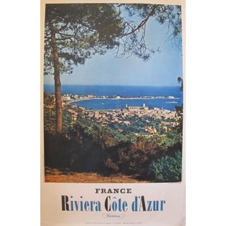 1950s Vintage French Travel Poster, Cannes