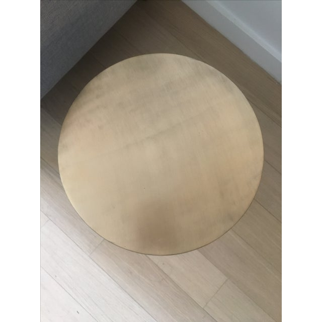 West Elm Brass Martini Side Table - Image 4 of 4