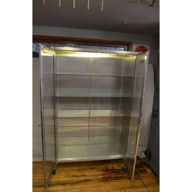 Lighted Two-Door Dental Apothecary Lab Cabinet - Image 7 of 10