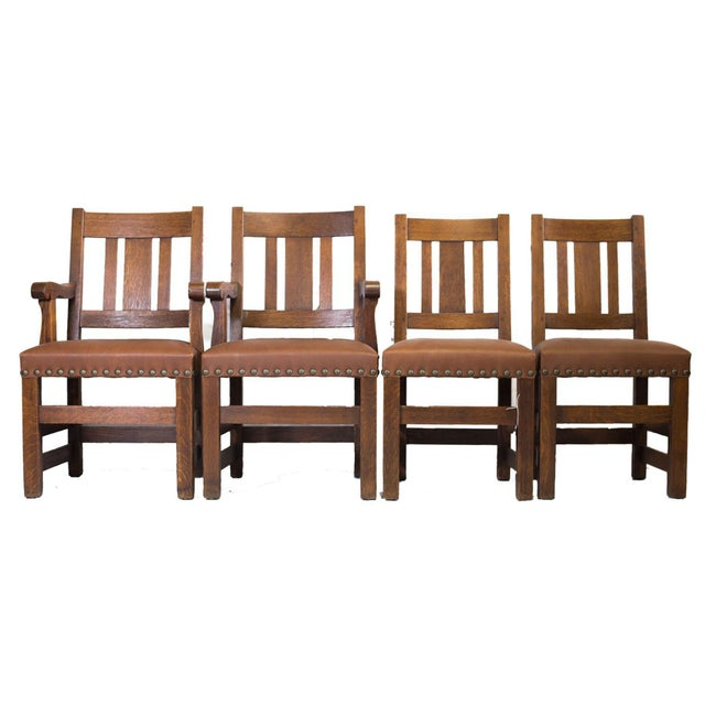 Barber Brothers Dining Chairs - Set of 4 - Image 1 of 4