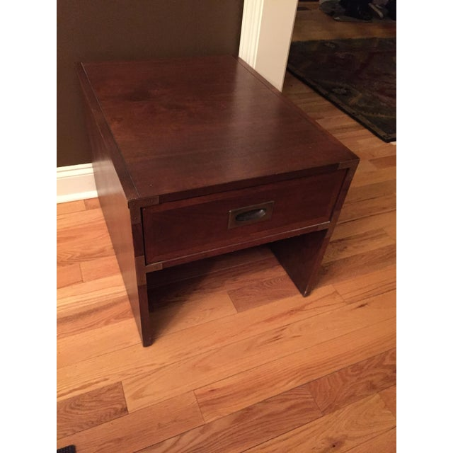 Lane Campaign Style Side Table/Night Table - Image 3 of 8