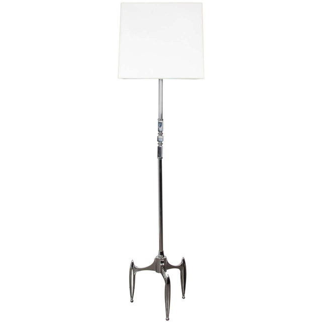 Vintage 1950s French Chrome Plated Floor Lamp - Image 1 of 5