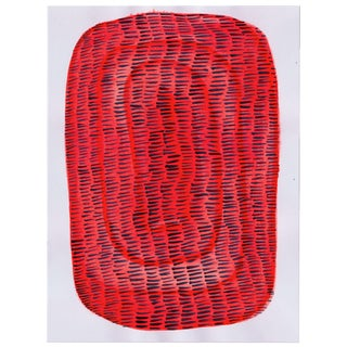 Contemporary Red & Black Painting