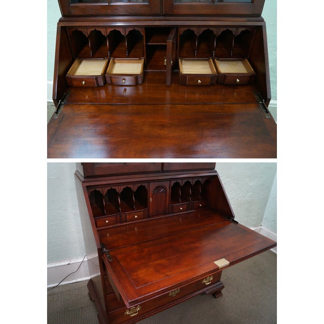 Statton Solid Cherry Chippendale Secretary Desk - Image 10 of 10