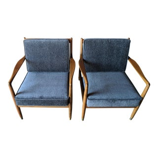 Pair of Mid Century Original Dux Lounge Chairs Made in Sweden