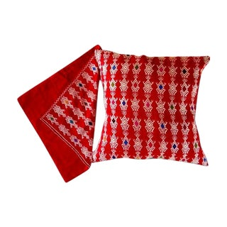 Chiapas Red Pillow Covers - A Pair