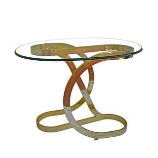 Sculptural Brass Accent Table by Milo Baughman