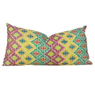 Swati Diamond Folk Brocade Pillow