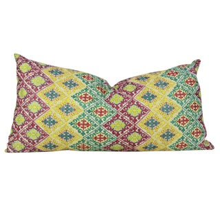 Swati Diamond Folk Brocade Pillow