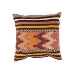 Image of Vintage Pink & Black Kilim Pillow