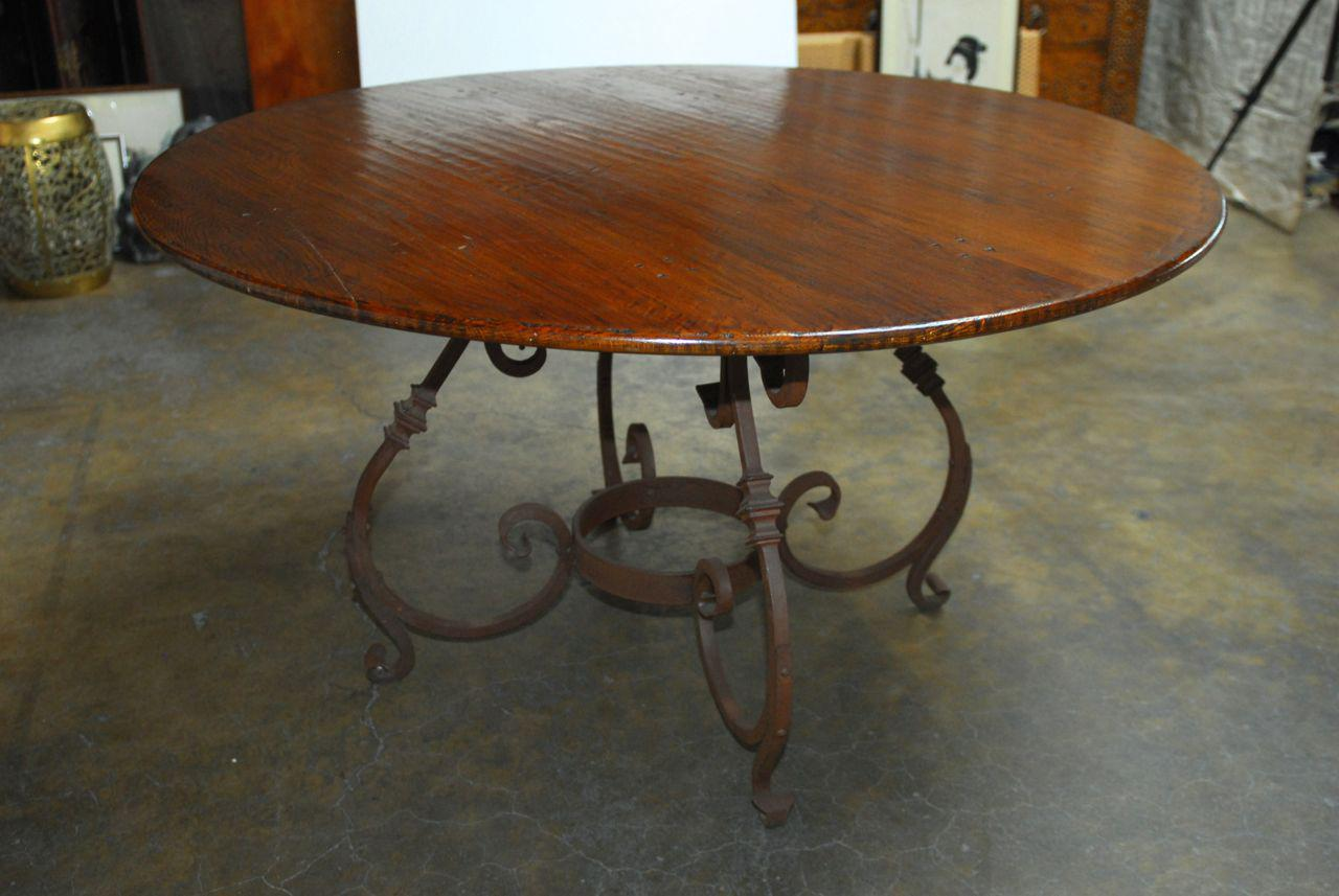 Italian Oak amp Scrolled Iron Round Dining Table Chairish : ce852b4d c639 4117 86dc 275f9c708b30aspectfitampwidth640ampheight640 from www.chairish.com size 640 x 640 jpeg 42kB