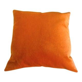 Square Orange Mohair Pillow