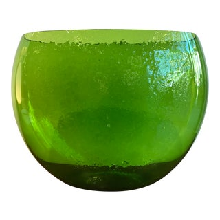 Green Glass Bowl by Blenko