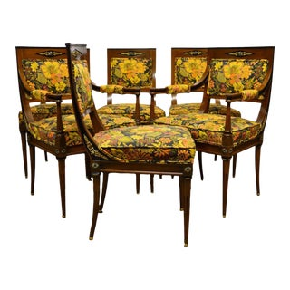French Regency Rosewood Dining Chairs - Set of 6