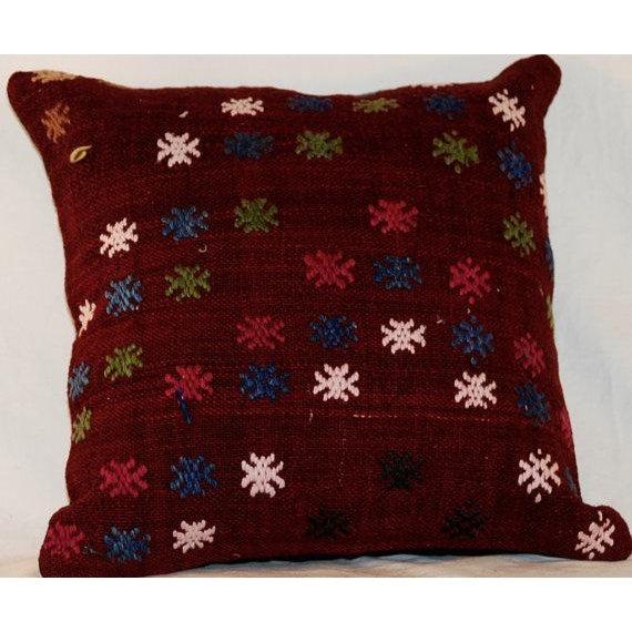 Vintage Bohemian Handmade Kilim Pillow - Image 6 of 7