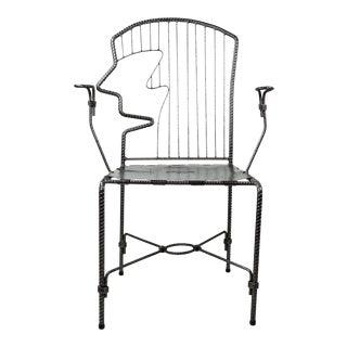 Folk Art Rebar Armchair