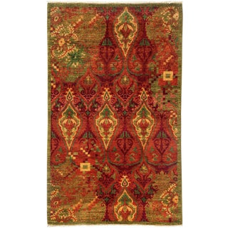 "Suzani, Hand Knotted Area Rug - 3' 1"" x 5' 0"""