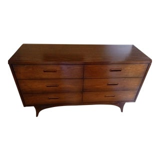 Johnson Carper Walnut Mid-Century Danish Modern Dresser